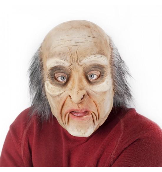 maska muž s vlasmi a pohyblivou mimikou