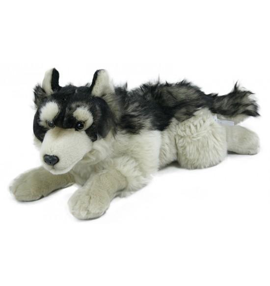 plyšový vlk ležiaci 30 cm