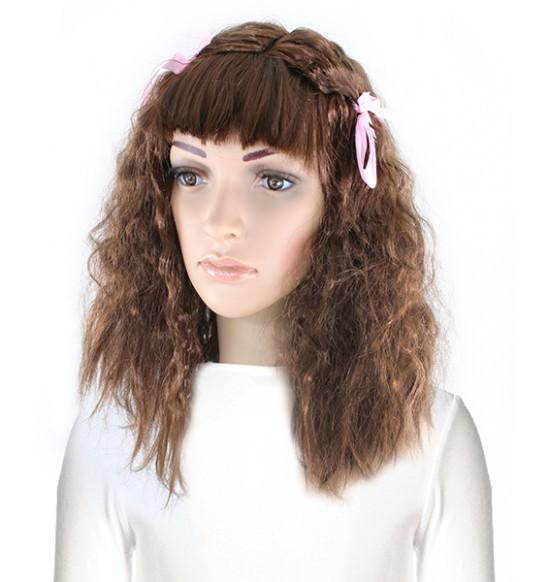 parochňa dlhé vlasy s mašľami