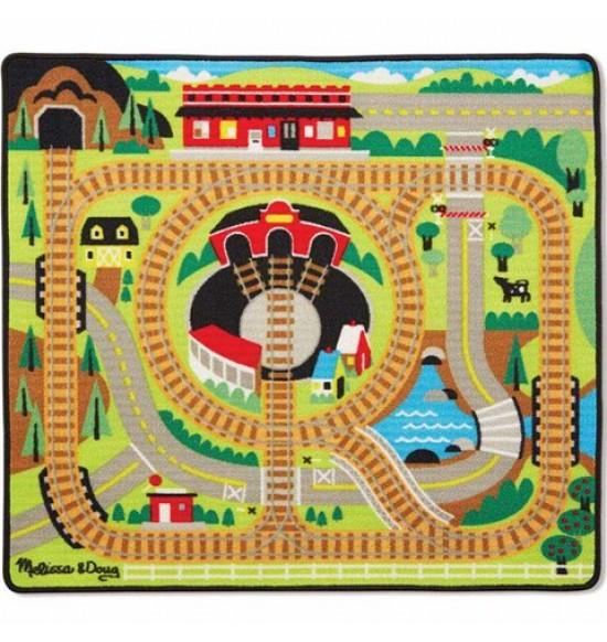 hrací koberec so železnicou Melissa&Doug