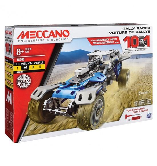 MECCANO 10 modelov RALLY ÁUT S MOTOROM