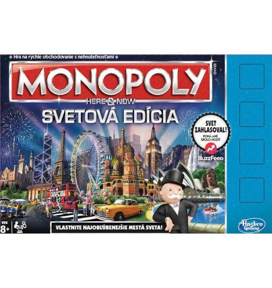 MONOPOLY HERE AND NOW SVĚTOVÁ EDICE SK