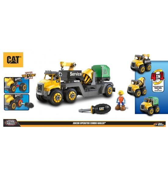 CAT 4v1 servisný truck + miešačka + smetiari