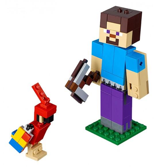 LEGO Minecraft 21148 Veľká figúrka Minecraft: Steve s papagájom