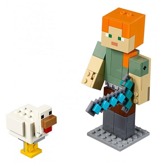 LEGO Minecraft 21149 Veľká figúrka Minecraft: Alex so sliepkou