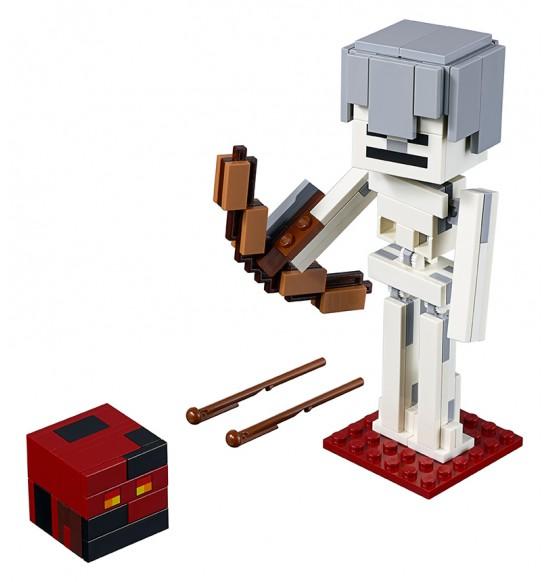 LEGO Minecraft 21150 Veľká figúrka Minecraft: kostra s pekelným slizom