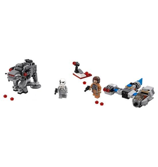 LEGO Star Wars 75195 Snežný Speeder vs. Mikrostíhačka Prvého rádu Walker