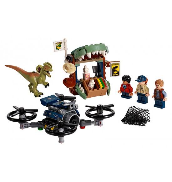 LEGO JURASIC PARK 75934 Dilophosaurus na úteku