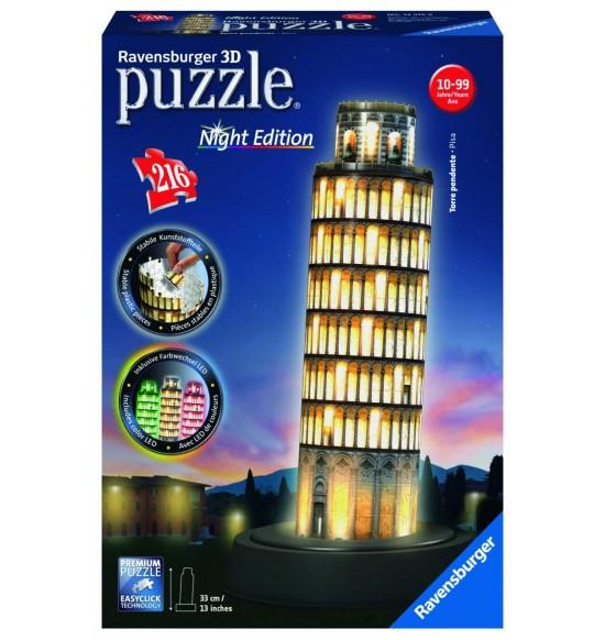 Šikmá veža v Pise (Nočná edícia) 216 dielikov 3D