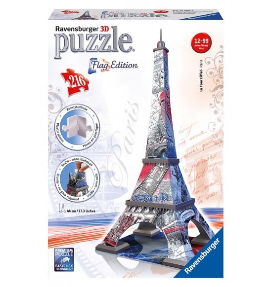 Eiffelova veža Vlajková edícia 216d 3D