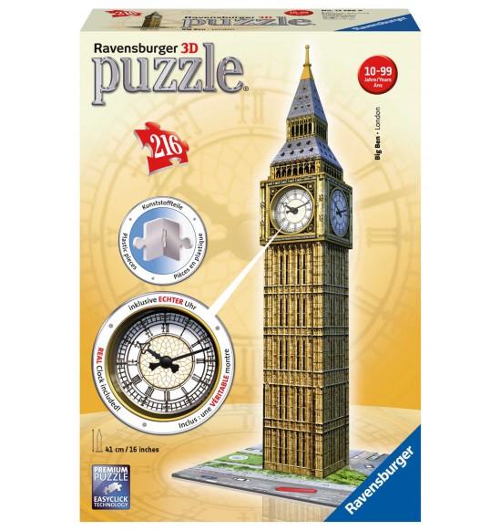 Big Ben s hodinami 216 dielikov 3D