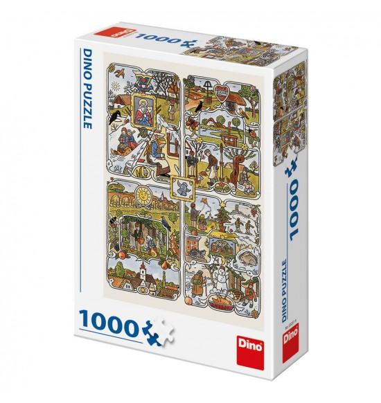 Josef Lada: Ročné obdobia 1000D