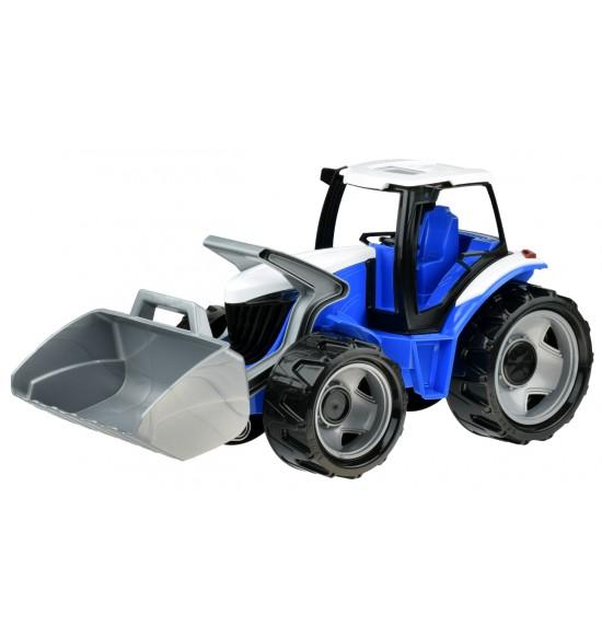 Traktor sa lyžicou modro sivý