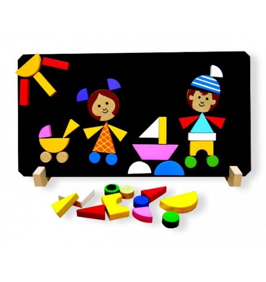 Deti magnetické puzzle
