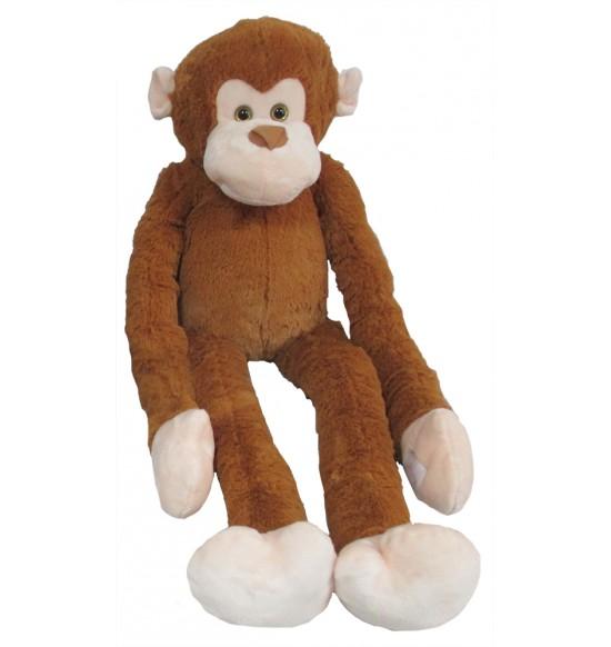 Plyšová opica dlhá ruka 100 cm, svetlohnedá