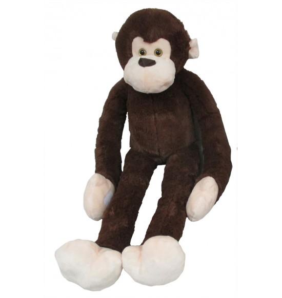 Plyšová opica dlhá ruka 100 cm, tmavohnedá