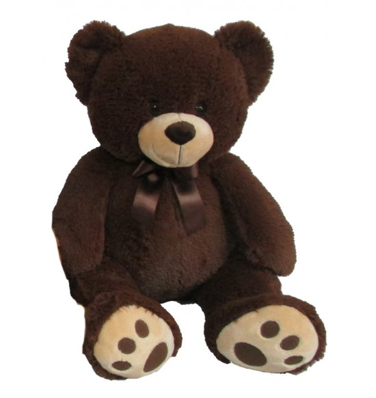 Plyšový medvedík 60 cm, tmavohnedý