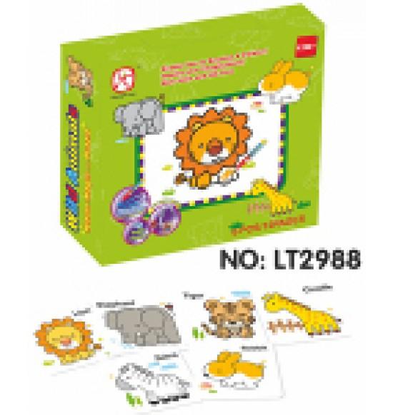 Vyfarbovacie puzzle zvieratká