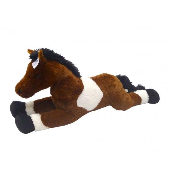 Kôň bielo/tmavohnedý 80 cm