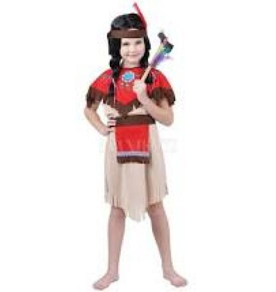 Karnevalový kostým Indiánka, 110-120cm